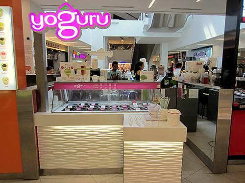 Yoguru frozen yogurt shop NEX Singapore.