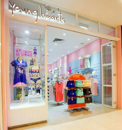 Young Hearts lingerie store West Mall Singapore.