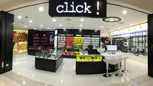 Click! camera store Funan DigitaLife Mall Singapore.
