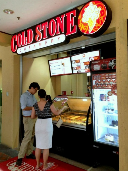 Cold Stone Creamery ice cream shop Far East Square Singapore.