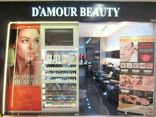 D'Amour Beauty salon NEX Singapore.