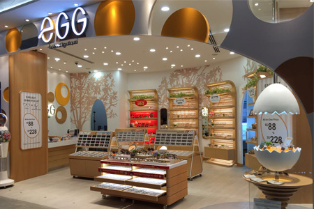 eGG optical store Waterway Point Singapore.