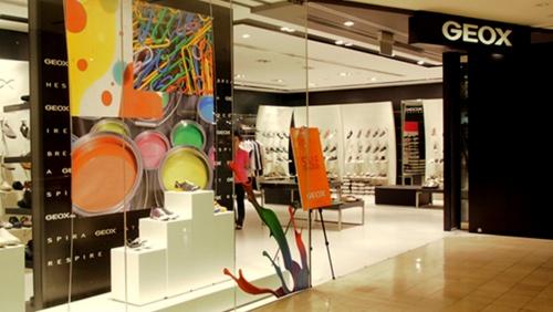 Geox shoe store Raffles City Singapore.