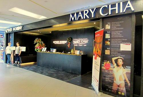 Mary Chia beauty salon NEX Singapore.