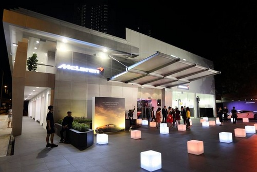 McLaren Singapore car dealership.