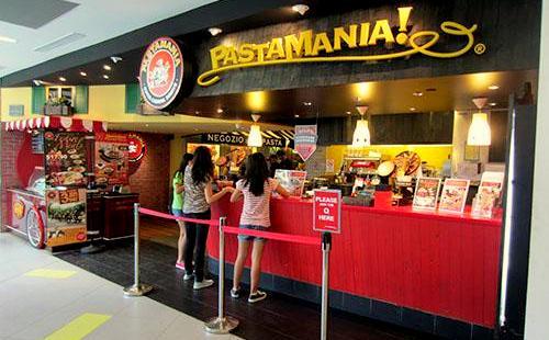 PastaMania Italian restaurant NEX Singapore.