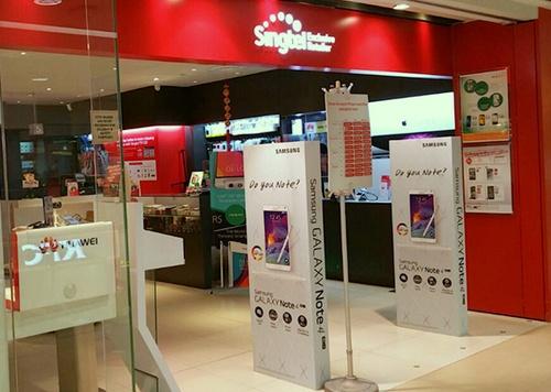 SingTel store Tampines Mall Singapore.