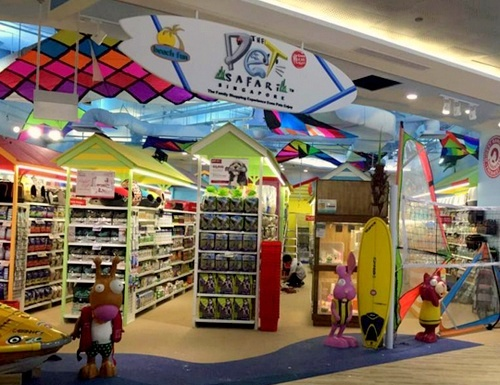 The Pet Safari store Waterway Point Singapore.