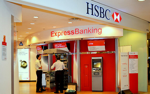 HSBC bank branch Tampines 1 Singapore.