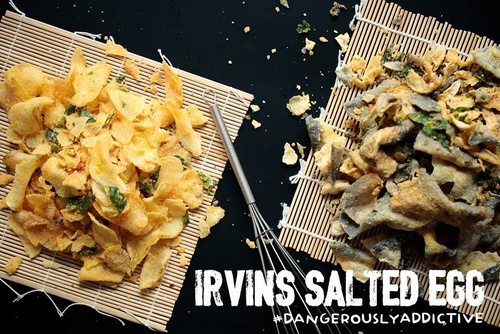 Irvins Salted Egg products.