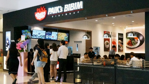 Paik's Bibim Korean restaurant City Link Singapore.
