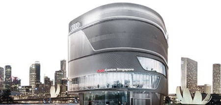 Audi Center Singapore car dealership.