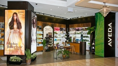 Aveda cosmetics shop Capitol Piazza Singapore.