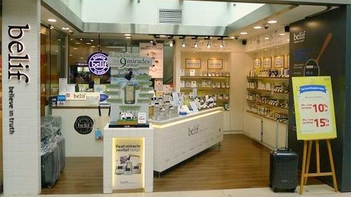 belif cosmetics store Junction 8 Singapore.