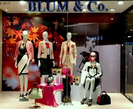 Blum & Co clothing store Raffles City Singapore.