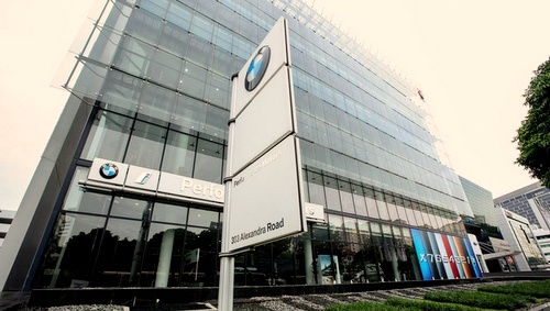 BMW Performance Motors car dealership Singapore.