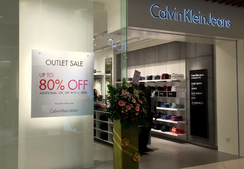 Calvin Klein Jeans outlet store IMM Singapore.