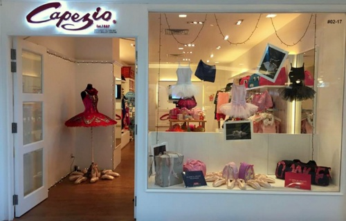 Capezio dancewear shop Forum The Shopping Mall Singapore.