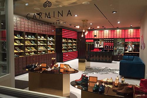 Carmina Shoemaker shoe store Capitol Piazza Singapore.