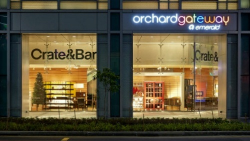 Crate & Barrel store OrchardGateway@Emerald Singapore.