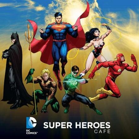 DC Comics Superheroes Cafe Marina Bay Sands Singapore.