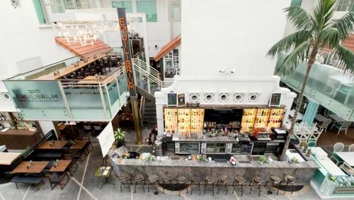 Equilibrium Italian restaurant Capitol Piazza Singapore.