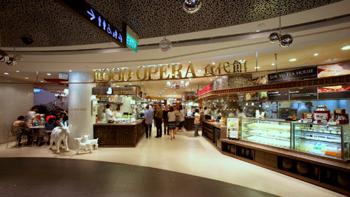 Food Opera food court ION Orchard Singapore.