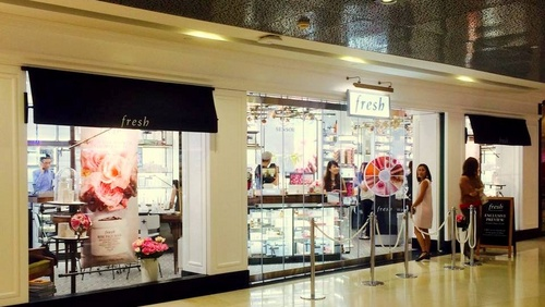 Fresh cosmetics shop ION Orchard Singapore.