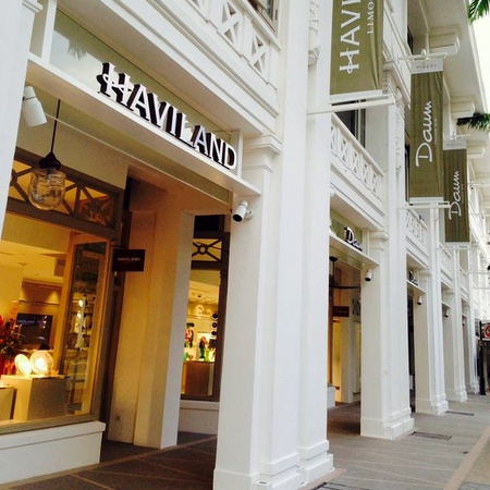 Haviland porcelain tableware store Capitol Piazza Singapore.
