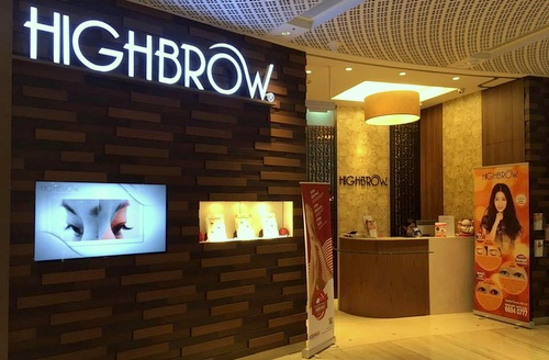 HighBrow salon Capitol Piazza Singapore.