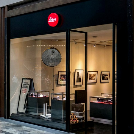 Leica camera store Marina Bay Sands Singapore.