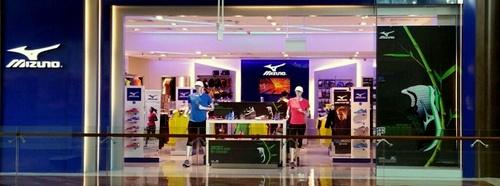 Mizuno store The Shoppes at Marina Bay Sands Singapore.