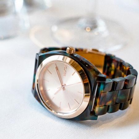 Nixon x Liberty London Time Teller watch.
