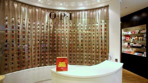 O.P.I Centre nail salon & shop Forum The Shopping Mall Singapore.