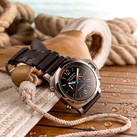 Officine Panerai Luminor 1950 Regatta 3 Days Chrono Flyback Automatic Titanio 47mm PAM00526 watch.