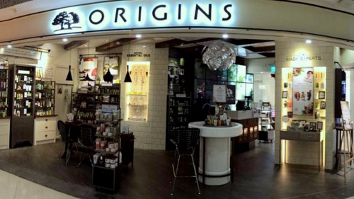 Origins cosmetics store ION Orchard Singapore.