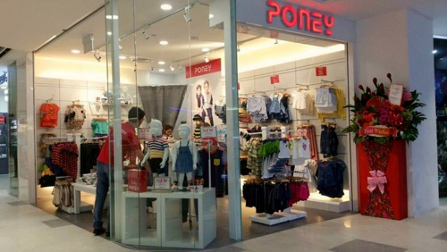 Poney children's clothing store Compass One Singapore.