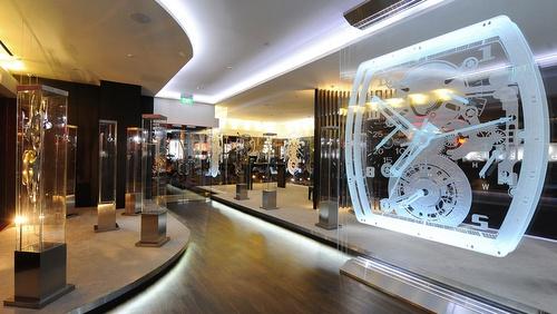 Richard Mille watch store Grand Hyatt Singapore hotel.
