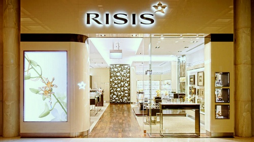 Risis jewellery store The Shoppes at Marina Bay Sands Singapore.