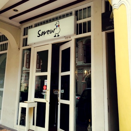 Saveur French restaurant Purvis Street Singapore.