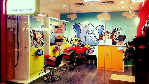 Scissors Paper Stone children's hair salon Singapore.
