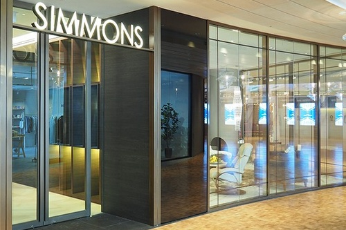 Simmons bedding store Capitol Piazza Singapore.