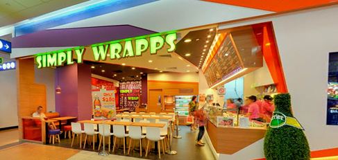 Simply Wrapps cafe HarbourFront Centre Singapore.