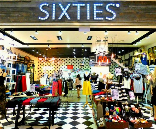 SIXTIES women's clothing store Westgate Singapore.