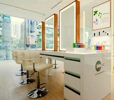 Skin Inc skin supplement bar Scotts Square Singapore.