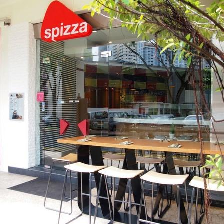 Spizza pizzeria restaurant Capitol Piazza Singapore.