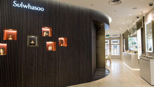 Sulwhasoo cosmetics shop Capitol Piazza Singapore.