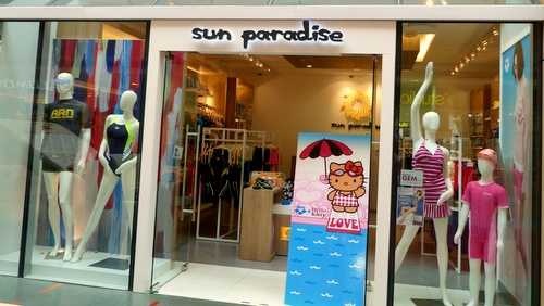 b97ad6335 Sun Paradise swimwear and swimming equipment store Velocity   Novena Square  Singapore.