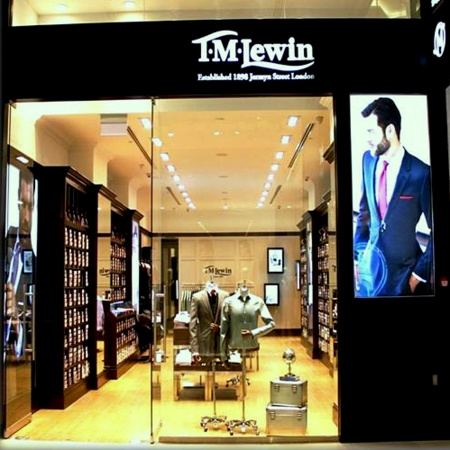 T.M.Lewin menswear clothing store Westgate Singapore.