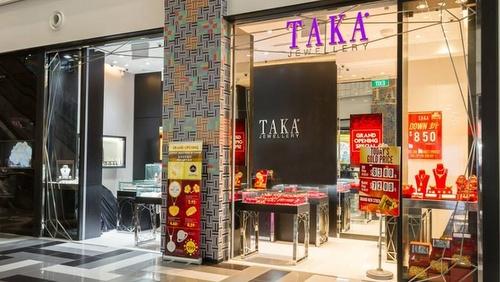 TAKA Jewellery store Tiong Bahru Plaza Singapore.